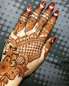 Indo-Arabic Mehndi Design