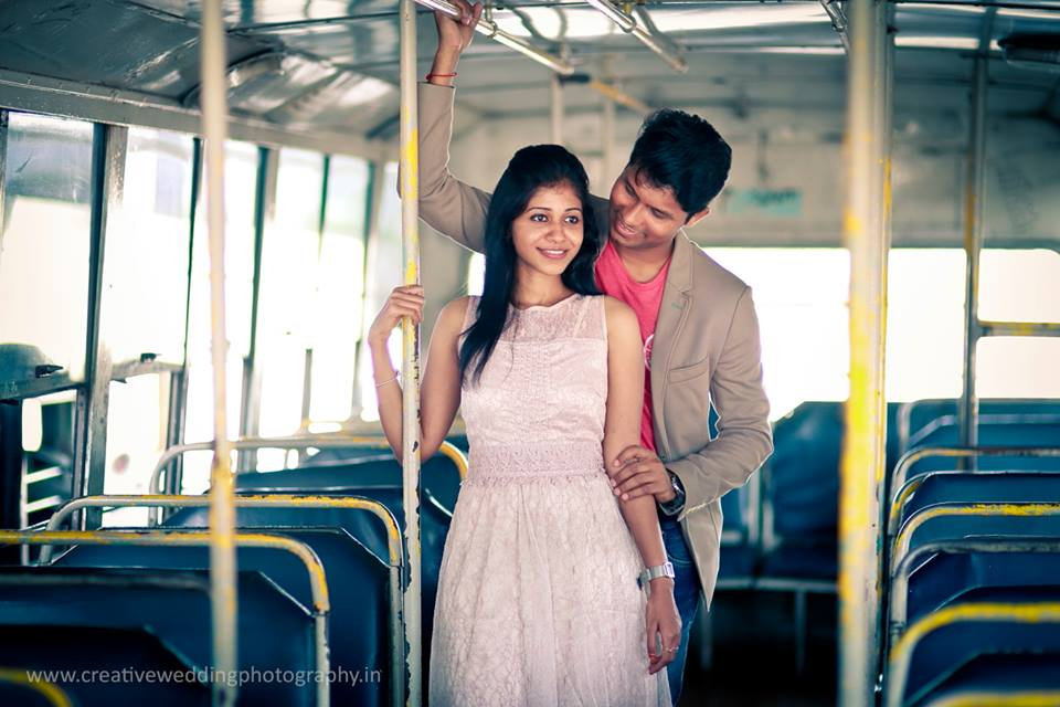 Bus ride of the couple
