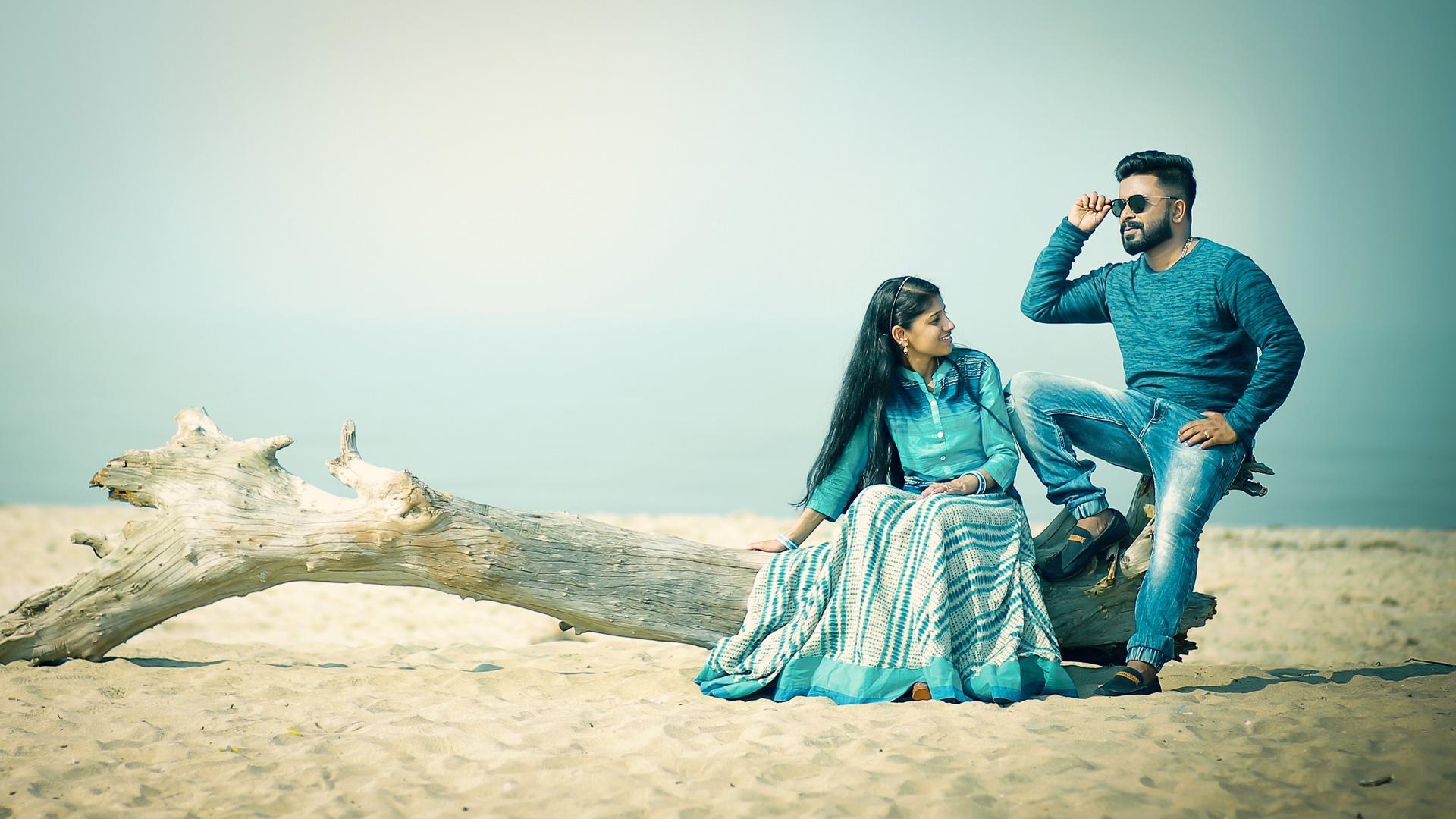 Couples in desert