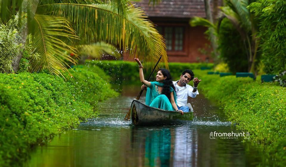 Boat ride in water stream