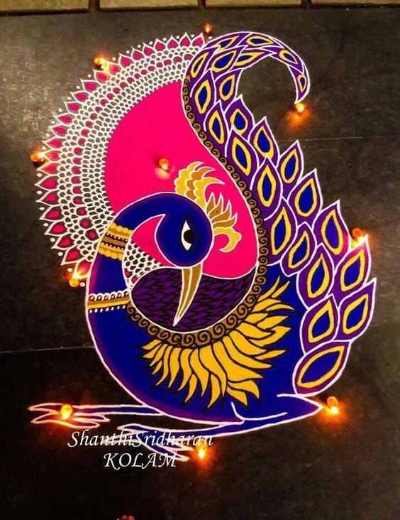 Peacock Rangoli 1