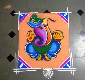 Special colorful rangoli