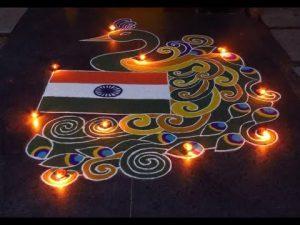 Independence day rangoli11