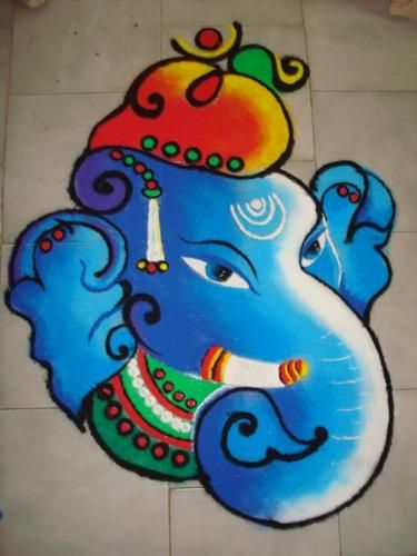 Ganesha in Blue