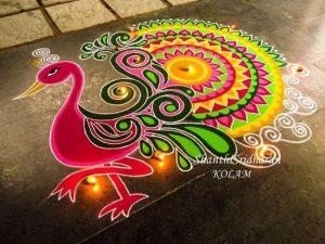 Multi Color Peacock