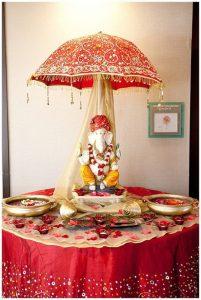 Ganesha with Umberlla