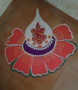 Ganesha inside white mothak