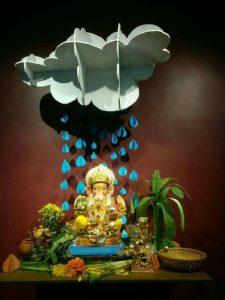 Ganesha in the rain showers