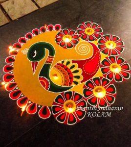 Peacock Rangoli 2