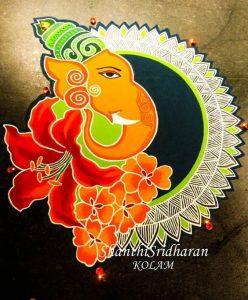 Ganesha with Hibiscus flower