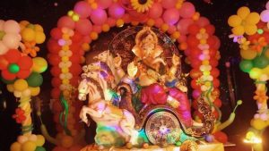 Ganesha with decorated Ballons