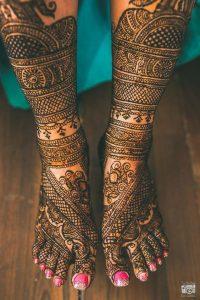 23. Bangle Design Bridal Feet Mehndi