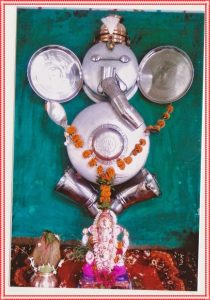 Ganesha Decoration with plates and vessels
