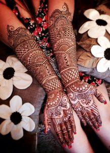 50. Full Checkers Bridal Mehndi