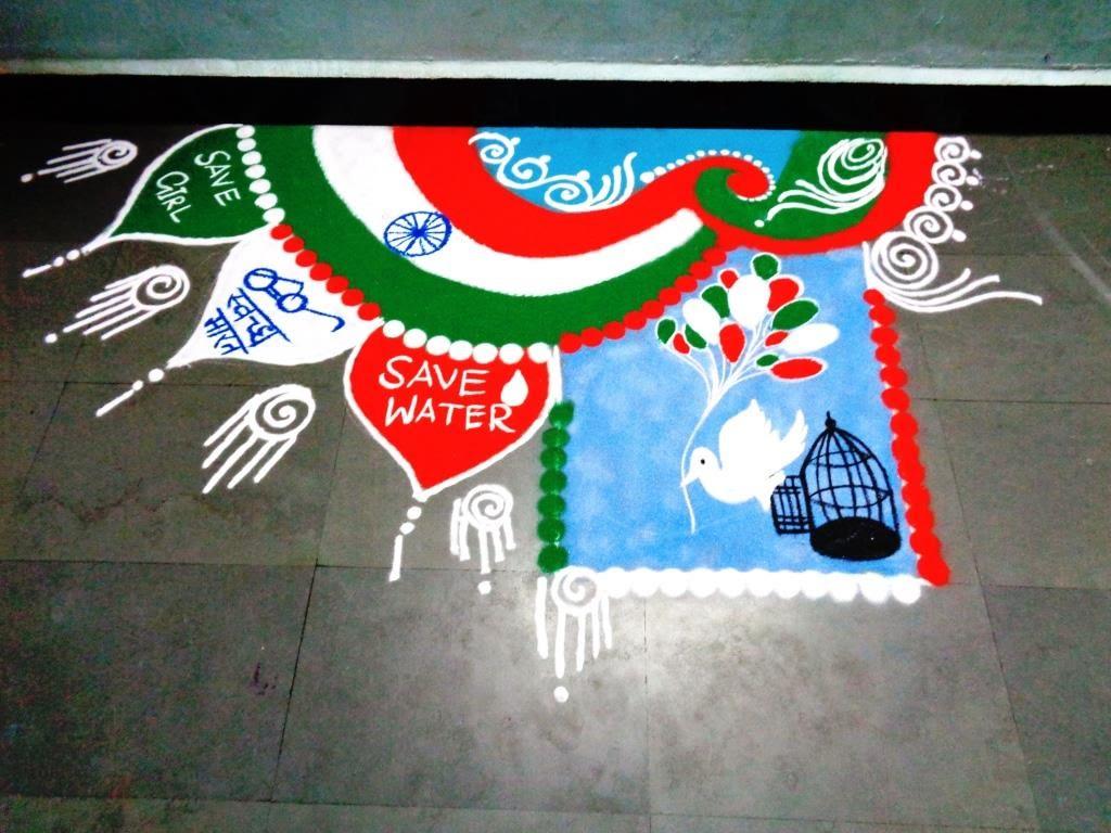 Independence day rangoli3