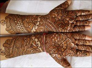 Arabic Fusion Bridal mehndi design