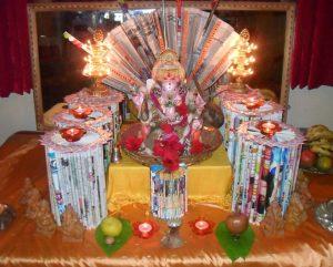 Eco friendly ganesha decoration
