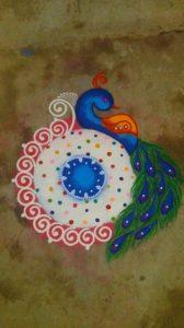 White Circle Peacock