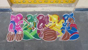 Colorful Instrumental Ganesha