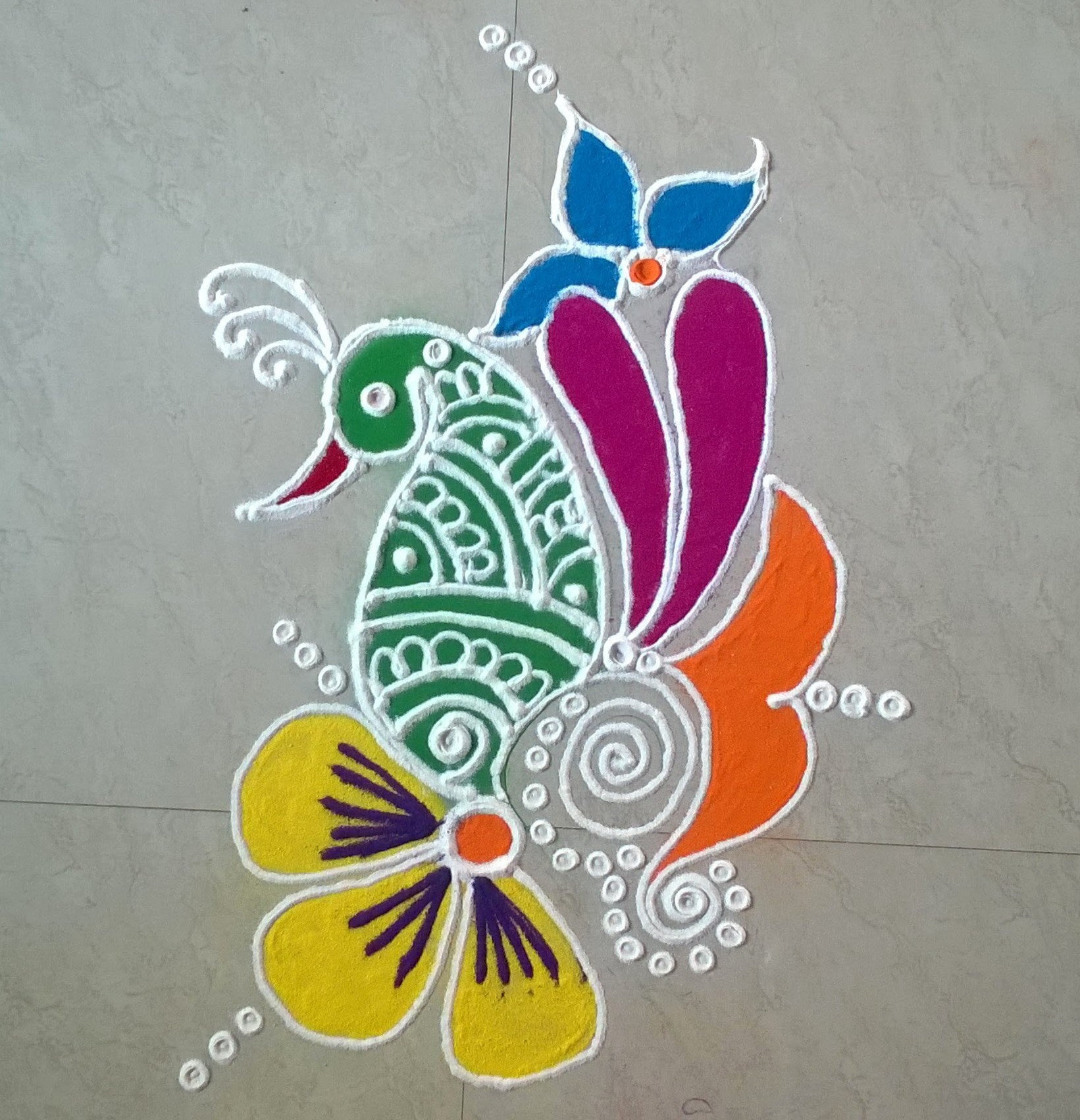 Buy Stylish simple rangoli picture trends