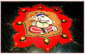 Beautiful Ganesh Rangoli