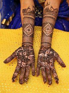 45. Diamond Design Bridal Mehndi