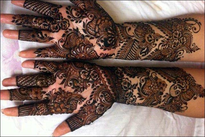 Bridal Mehndi Hands And Feet : Unique elegant flower floral henna mehndi design collection for