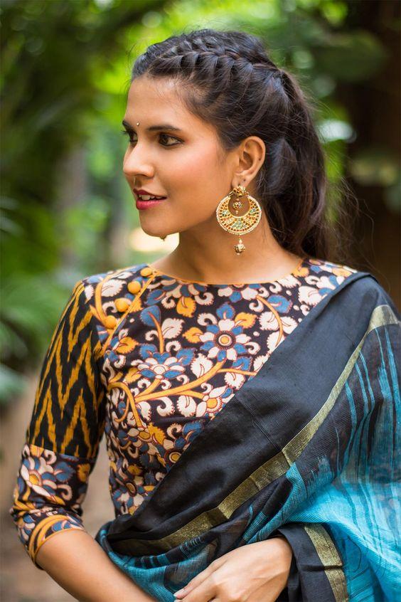 30 Timeless Kalamkari Blouse Patterns That You Will Love