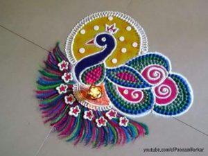 Peacock Rangoli 6