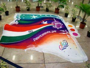 Independence day rangoli8