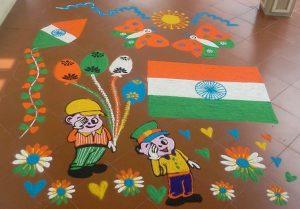 Independence day rangoli9