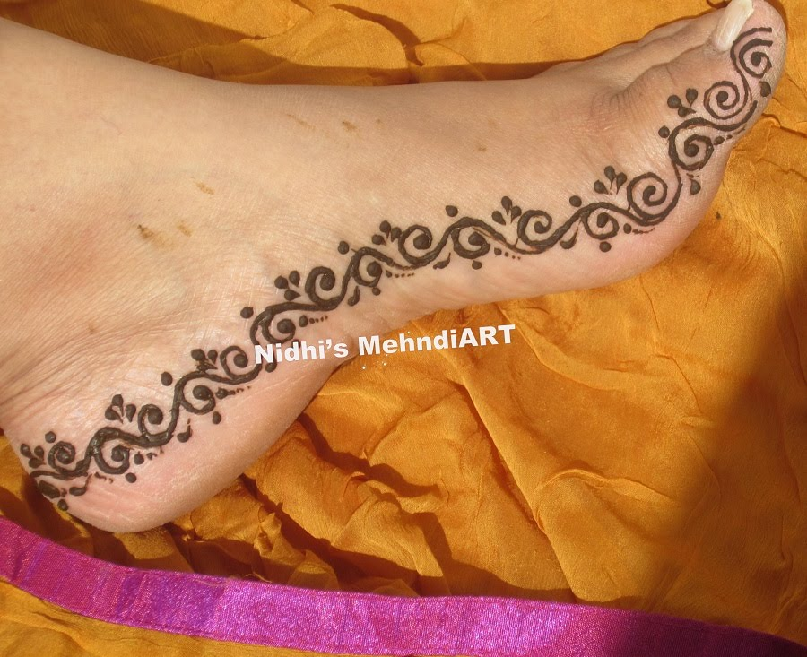 Mehndi On Leg : Trendy punjabi mehndi designs wedandbeyond