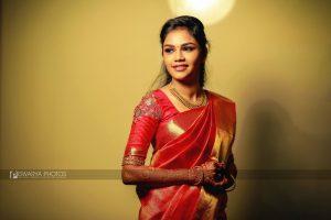 Simple Red Silk Saree