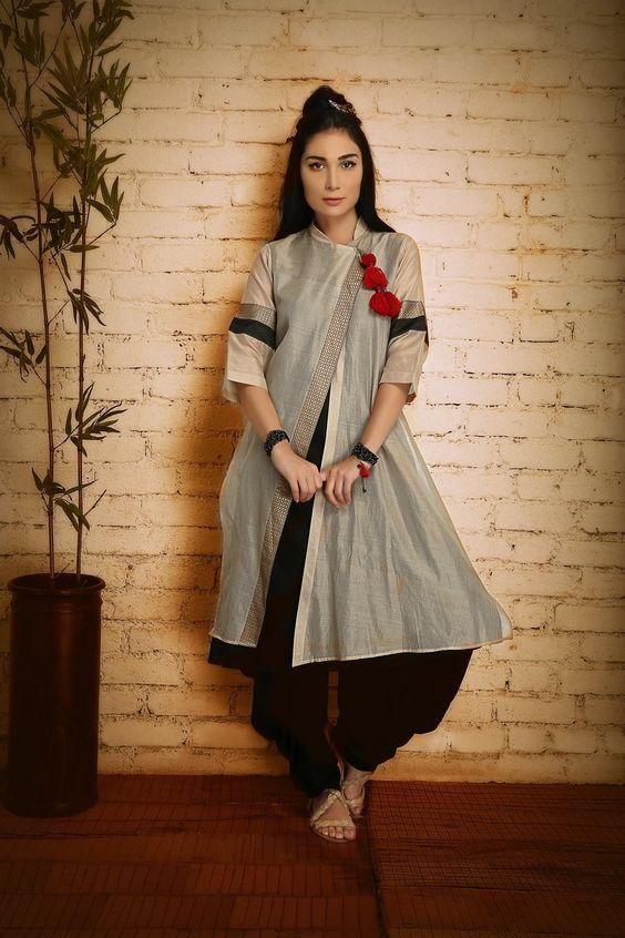 12.Chinese Model inspired Chudi Top