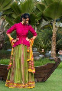 13.Gujarati style Lehnga Blouse