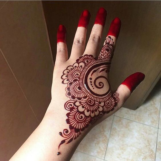 Mehndi Designs For Hands Red : Back hand henna designs you should try wedandbeyond