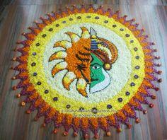 15. Half Kathakali pookolam