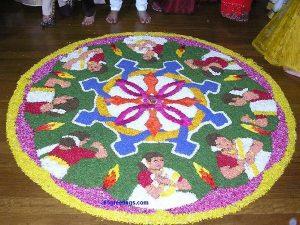 16. Kerala Tradition Poo kolam