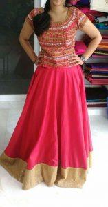 18.Embroidery Lehnga blouse