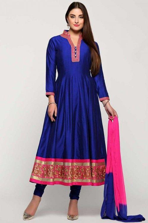 2.Royal Blue Anarkali Chudi