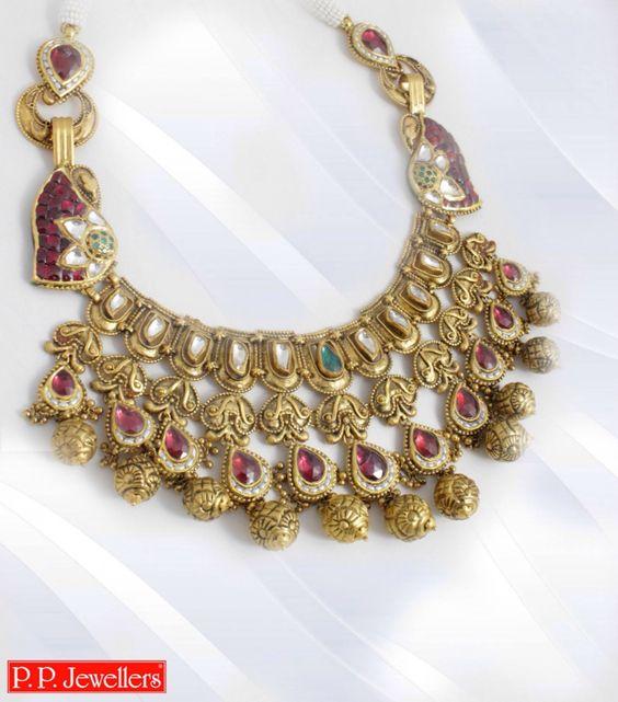 2.Beautiful white and Red Kundan Jewelry