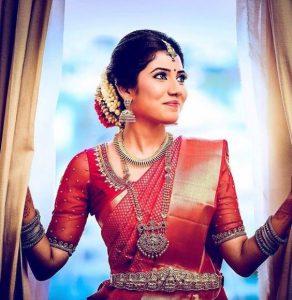 19. Dazzling Red Silk Saree