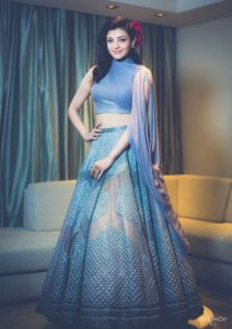 20.High neck and Sleeveless Lehnga Blouse