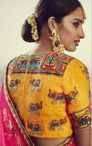 21. High top blouse neck design