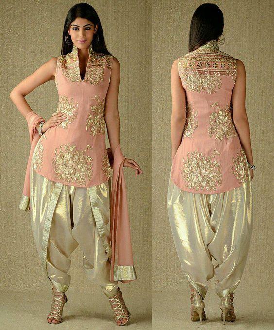 21.Dhoti style salwar