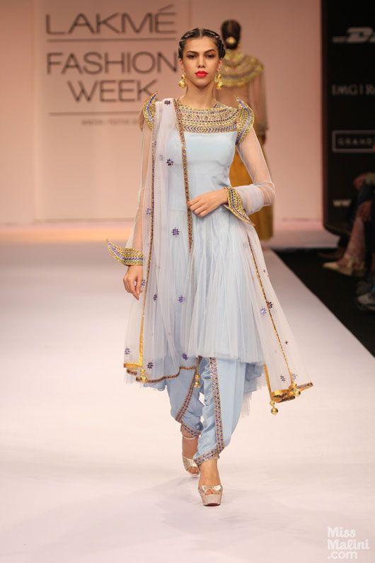 22.Designer dhoti style salwar