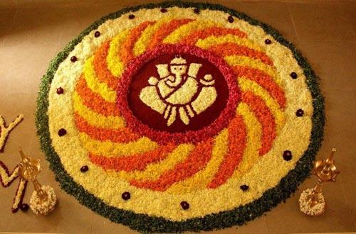 22.Ganesha Pookolam
