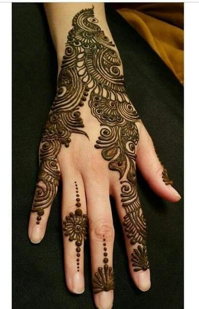 30 Back Hand Henna Designs You Should Try Wedandbeyond