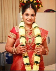 26.Cute Plain Red Silk saree
