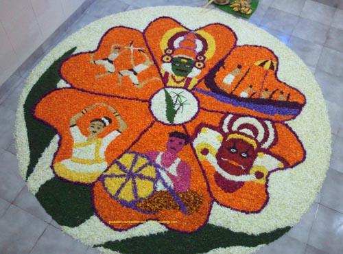 31. Kerala Culture Poo Kolam